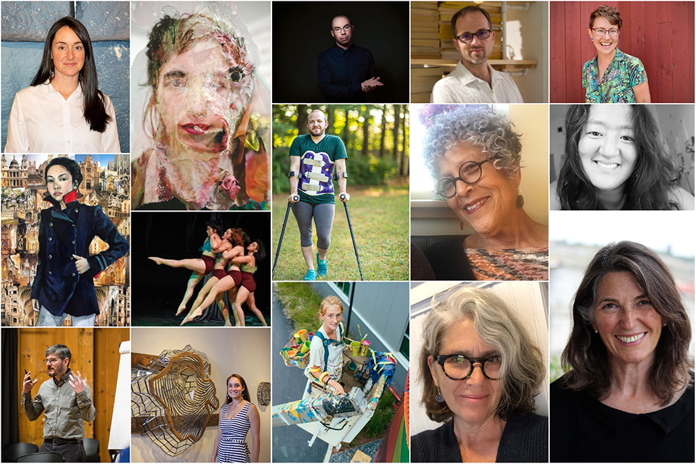A photo collage of all 15 2020 Creation Grant recipients.