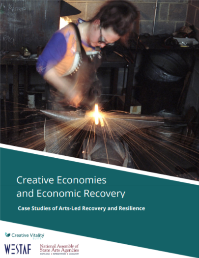 cover of nasaa report on creative economies and economic recovery