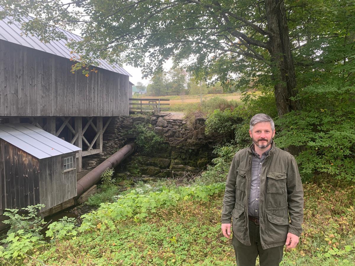 Composer Otto Muller at Kent's Corner in Calais