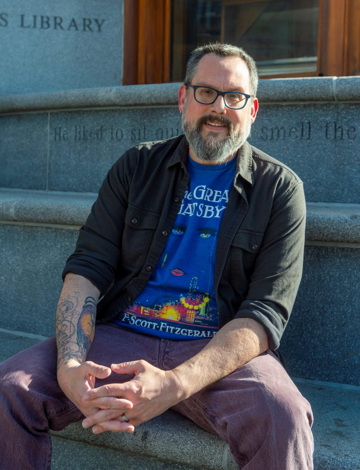Vermont Humanities Executive Director Christopher Kaufman Ilstrup
