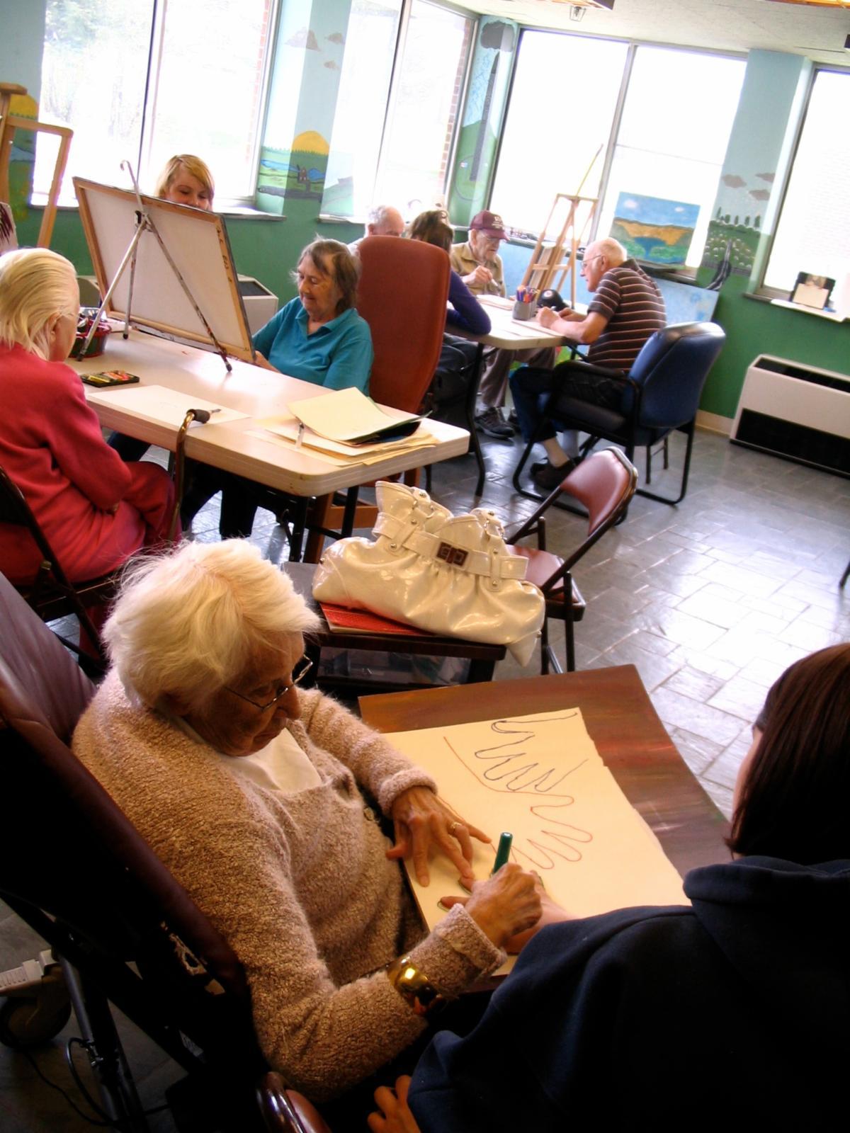 An intergenerational art workshop by Vermont Arts Exchange