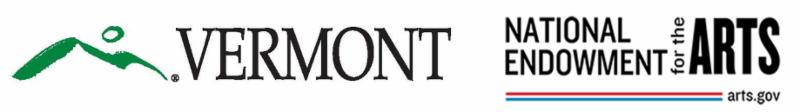 Vermont and NEA logos. arts.gov
