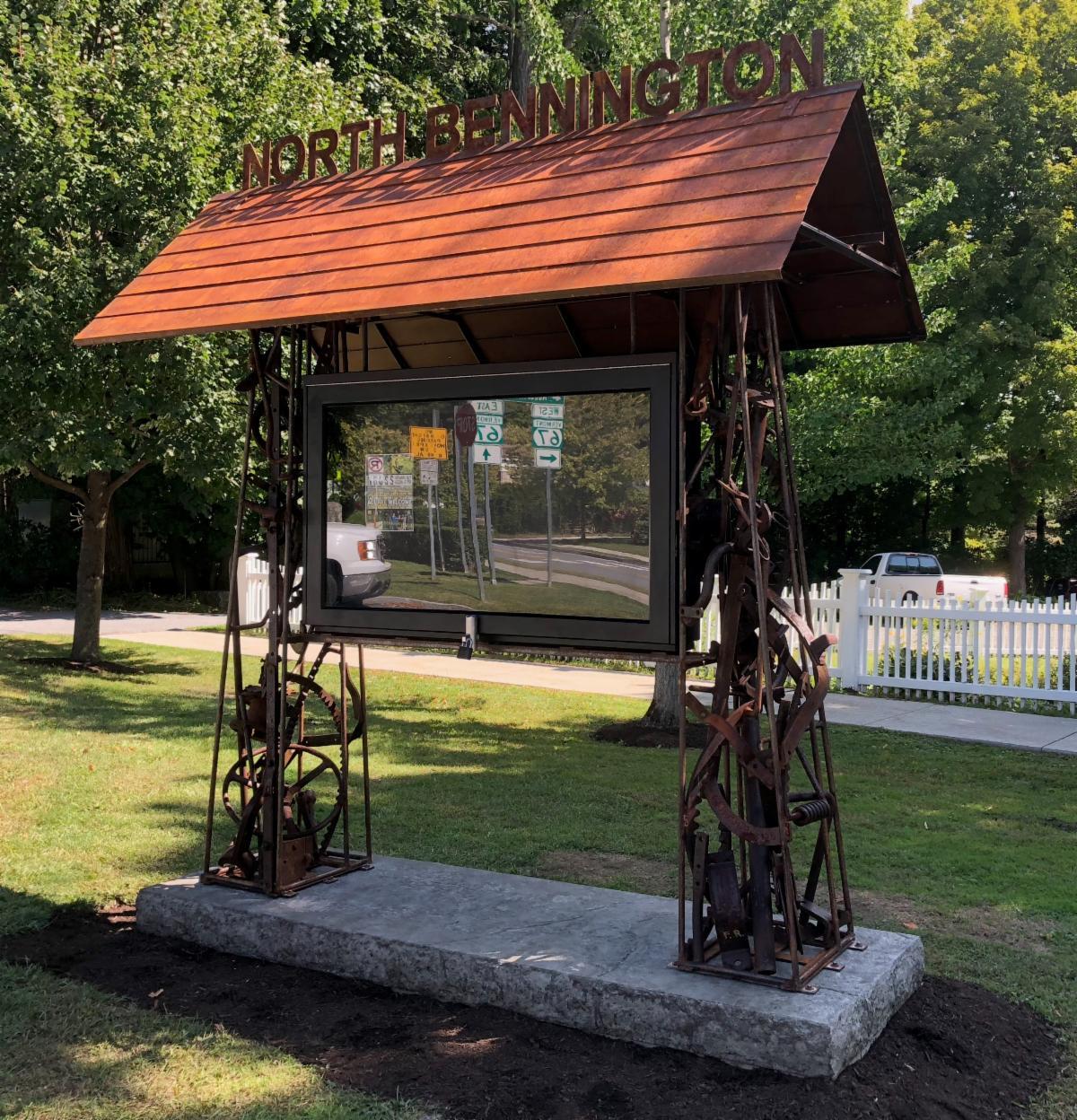 Joe Chirchirillo's sculpture kiosk in North Bennington.