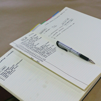 notebook with to-do list