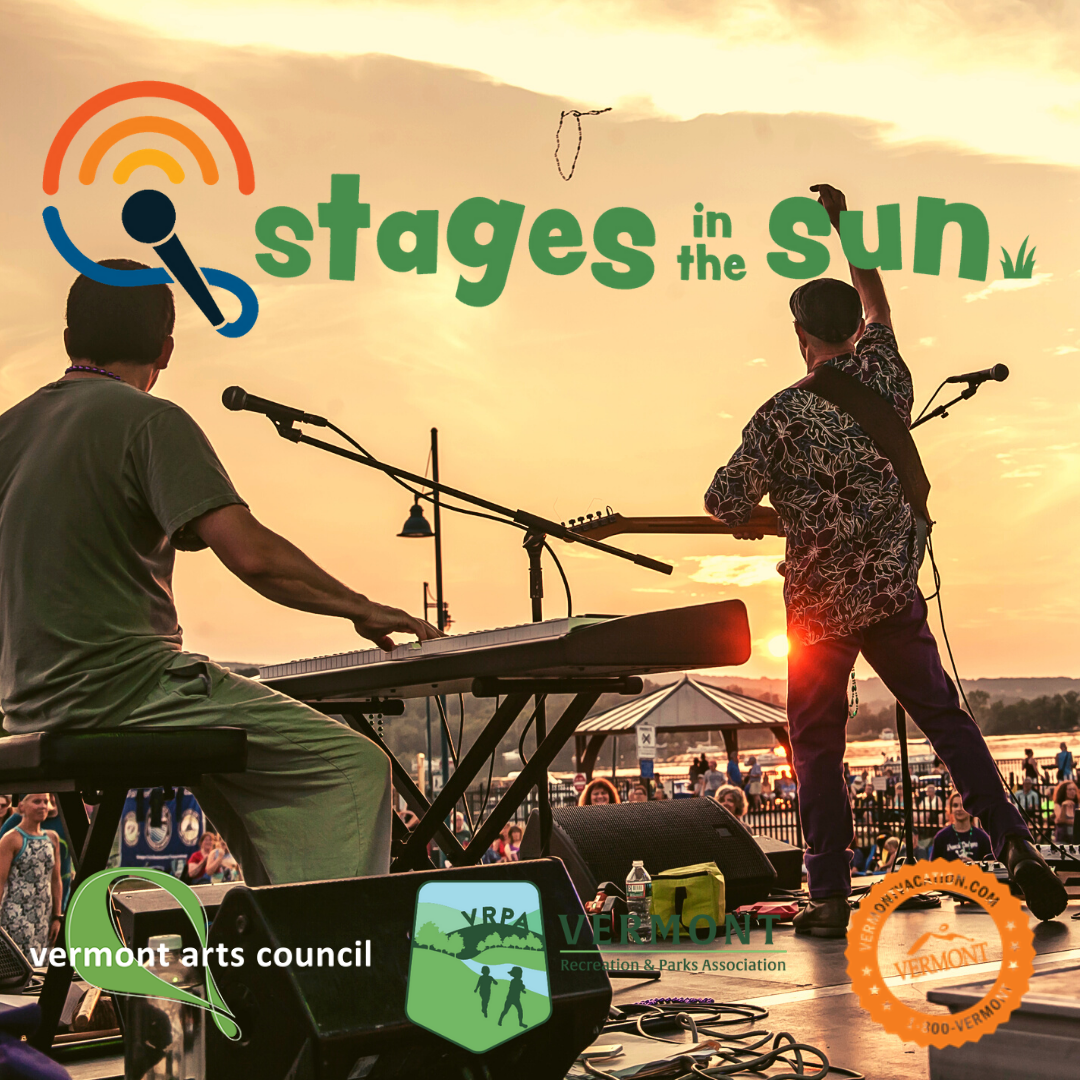 Sunsetting in front of performers on stage