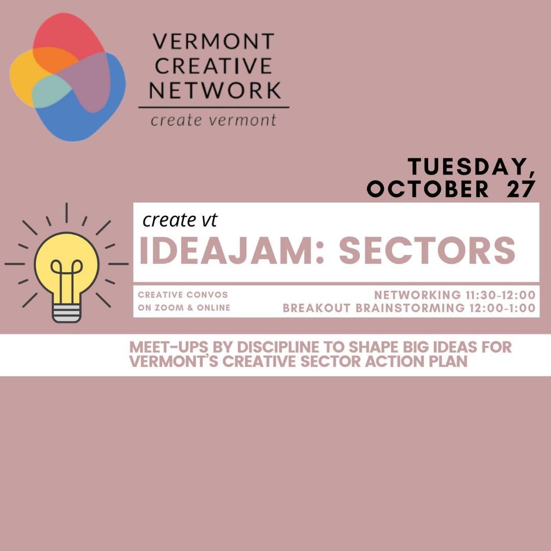 October 27 IdeaJam for Creative Sectors