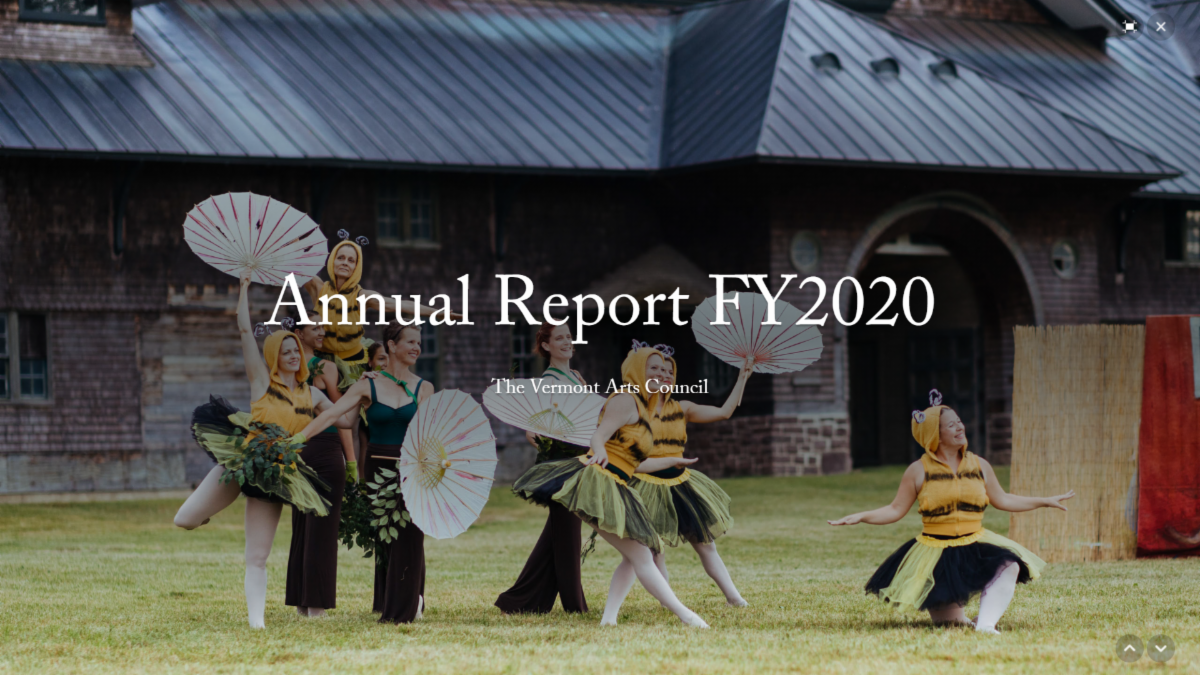 Vermont Arts Council FY2020 Annual Report