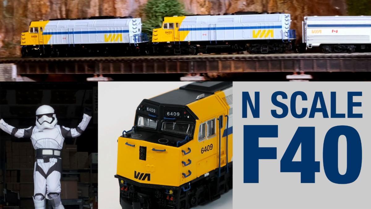 Rapido N scale F40ph-2d video