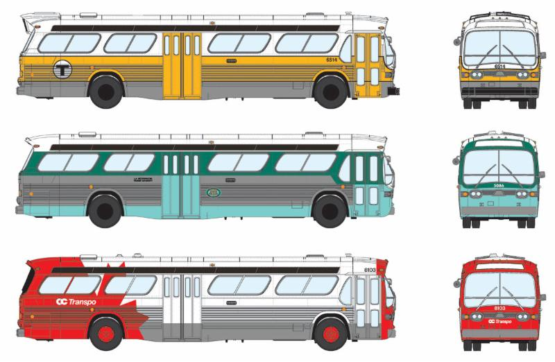 Bus model liveries