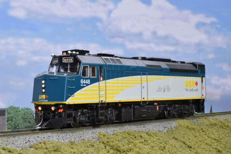 VIA Rebuilt F40 Locomotive