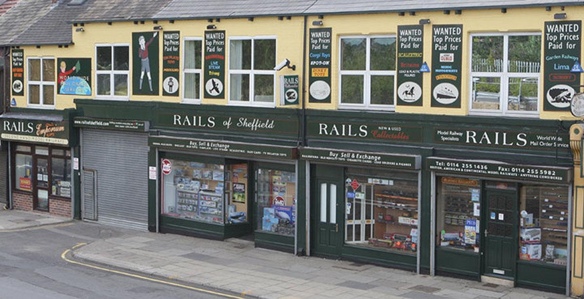 Rails of Sheffield store