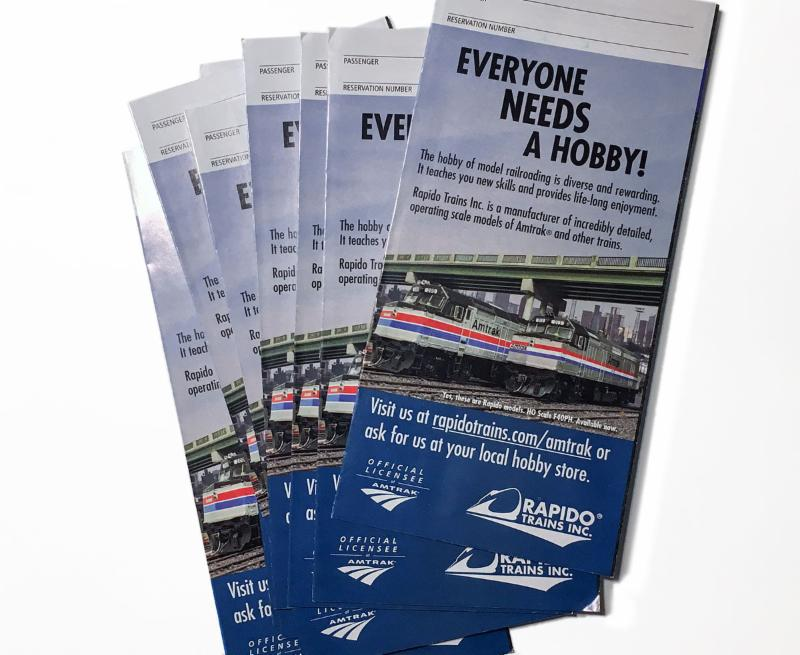 Amtrak Ticket Folders