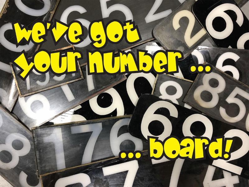 Locomotive Number Board