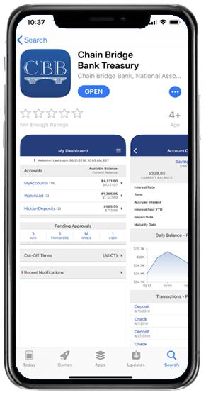 CBB Treasury App