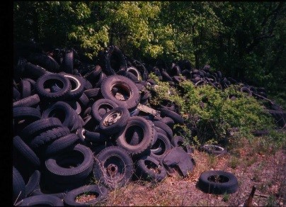 Pile of discarded tires