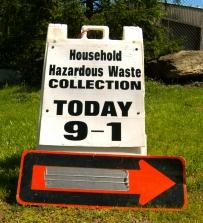Household Hazardous Waste Collection sign