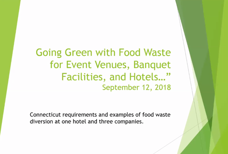 Going Green Wtih Food Waste Webinar