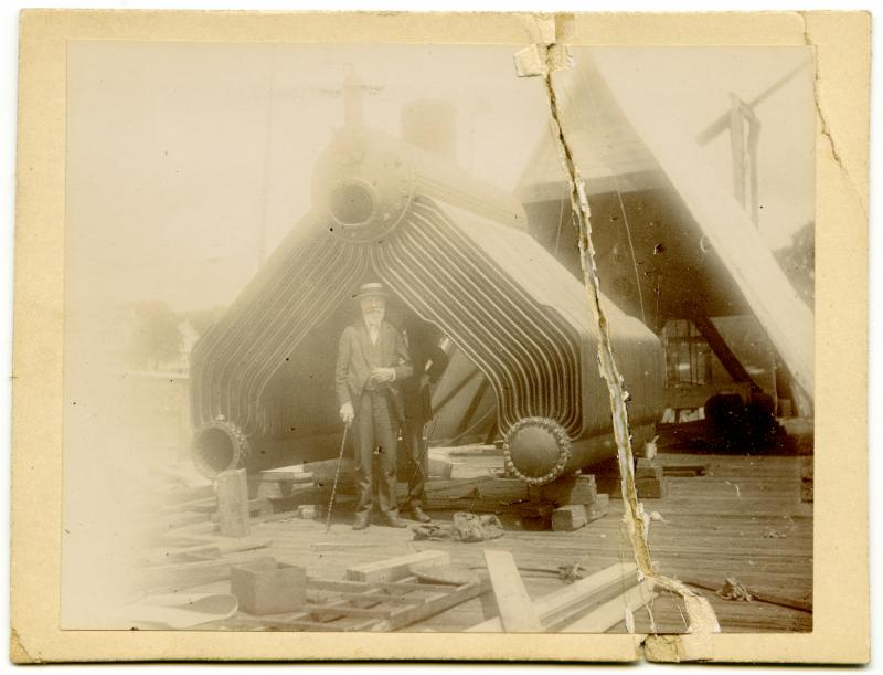 John Brown Herreshoff in 1914 with an HMCo three-drum boiler.