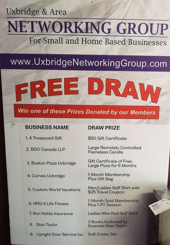 UNG Free Draw Prizes