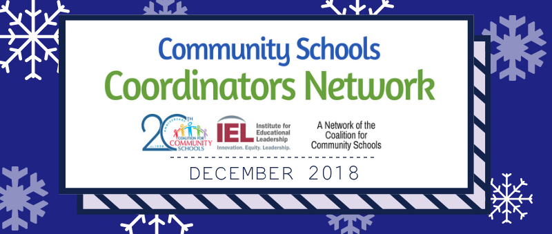 Community School Coordinators Network December 2018