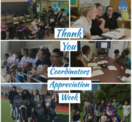 Thank You - Coordinators Appreciation Week