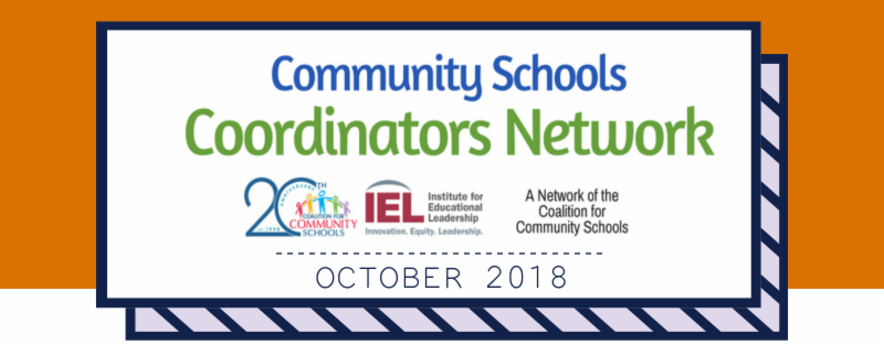 Community School Coordinators Network - October 2018
