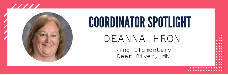 coordinator spotlight - deanna hron, king elementary, deer river, MN