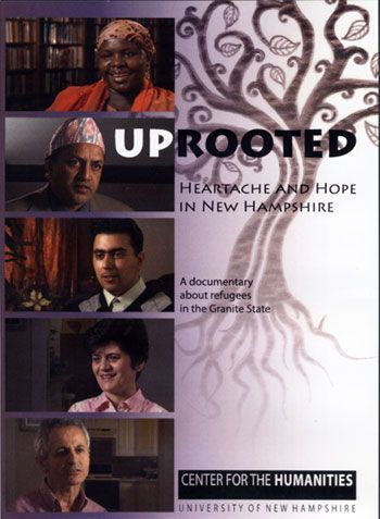 Uprooted book cover from the Center for the Humanities UNH