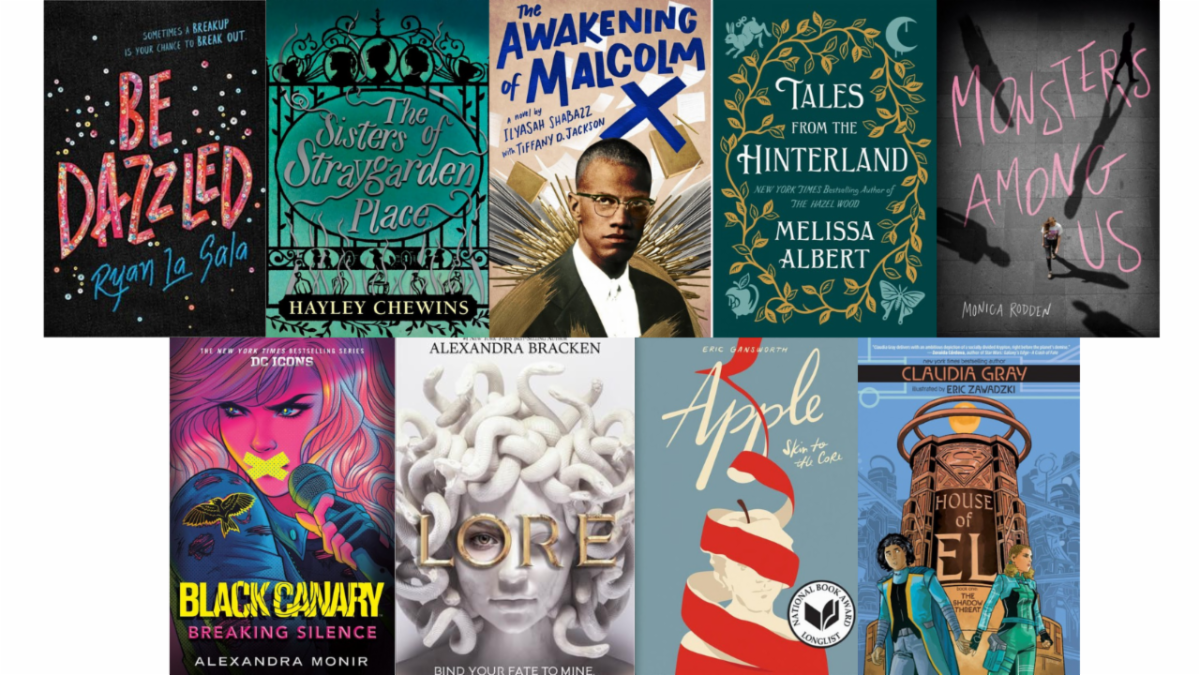 New Books for Teens February Book Covers