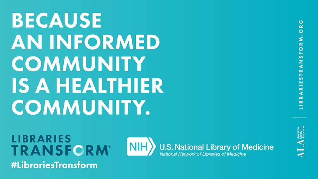 text - Because an informed community is a healthier community.