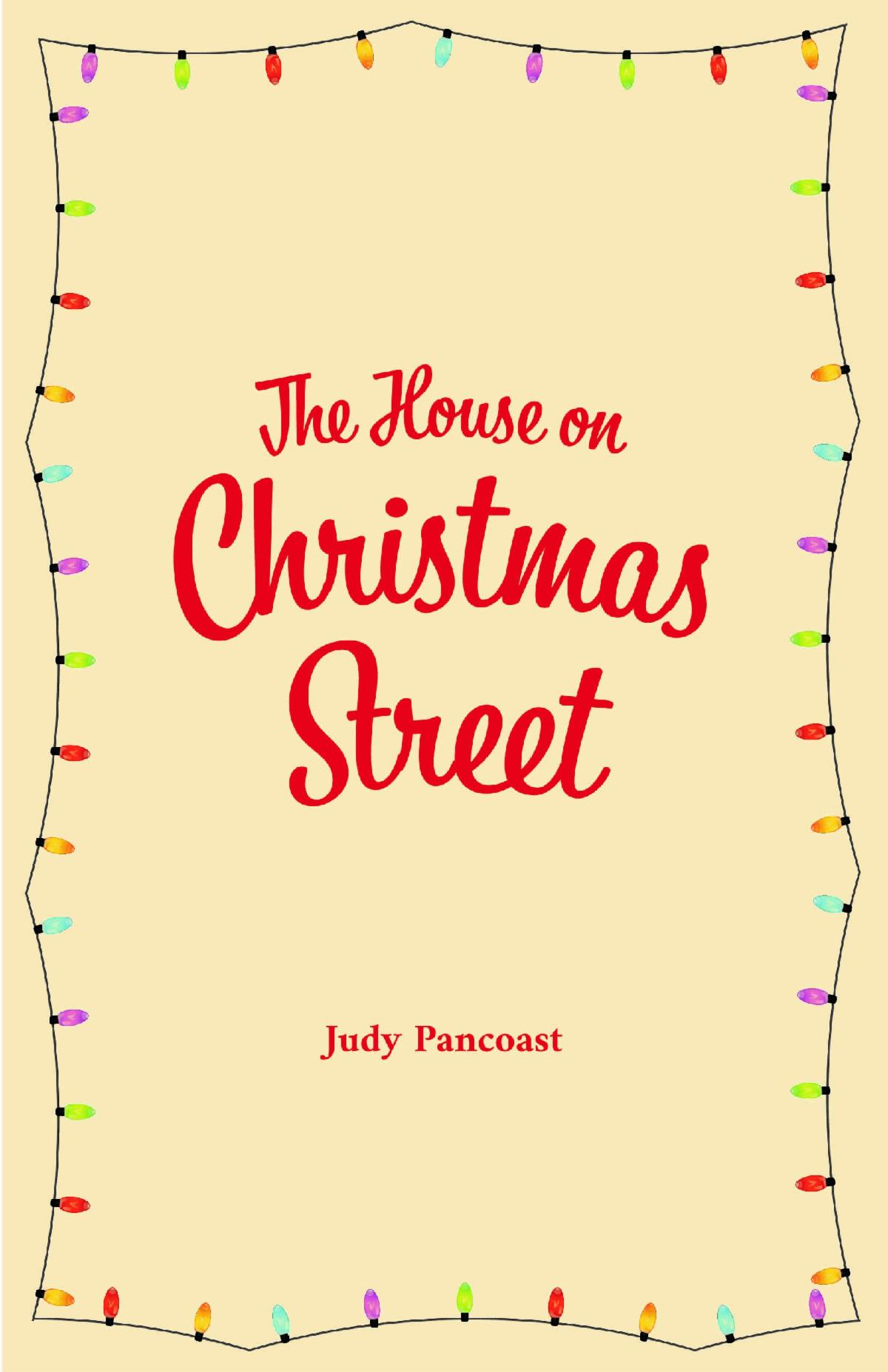 The House on Christmas Street book cover with border of holiday lights