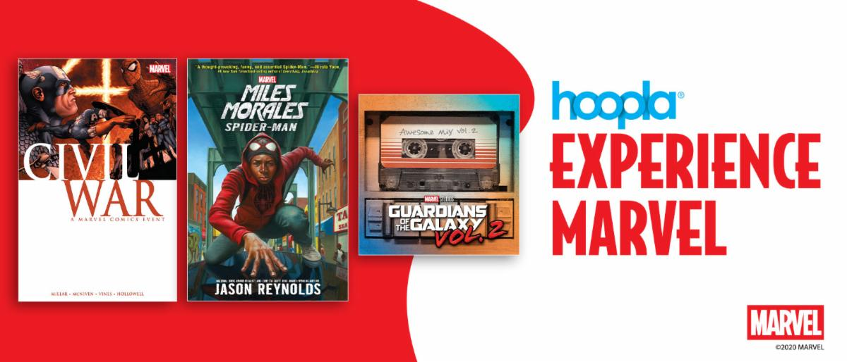 Discover Marvel comics with hoopla