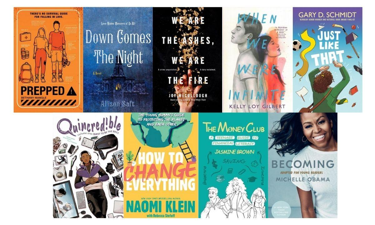 New Teen Bookcovers April