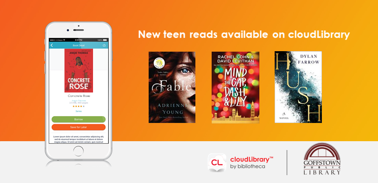 cloudLibrary Teen Book covers