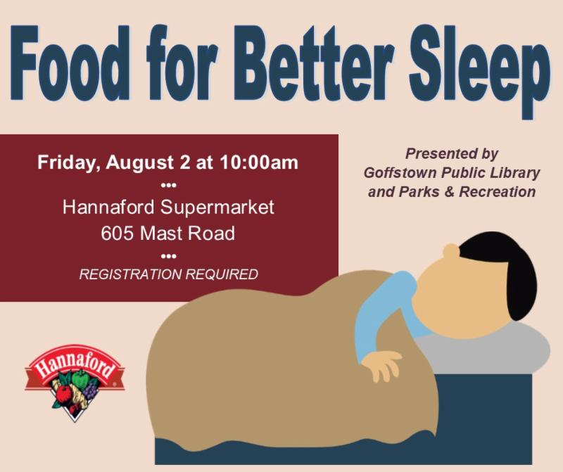 Sleeping person and Hannaford logo image