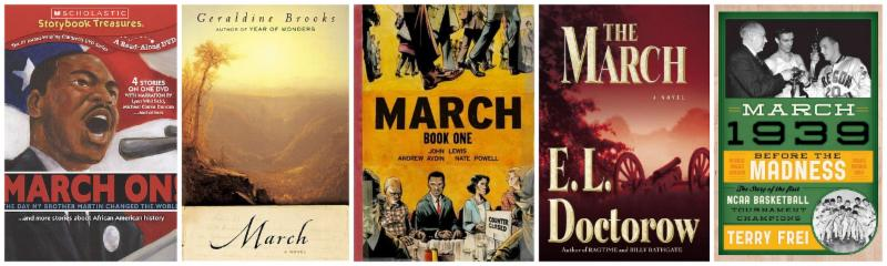 How many books will you find titled March at the Library