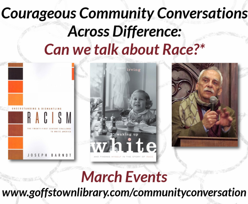 3 New Courageous Community Conversations Events in March 2019