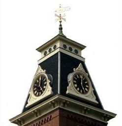 Look up and notice the clock towers watching over us in New England.