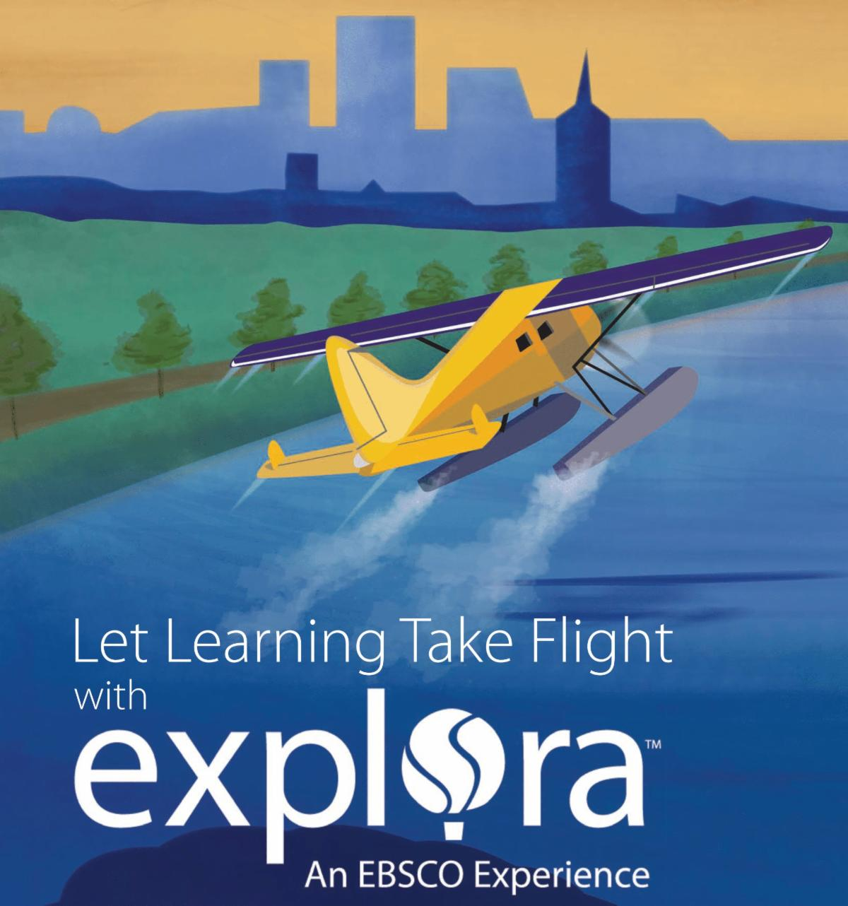 Explora picture with a plane.
