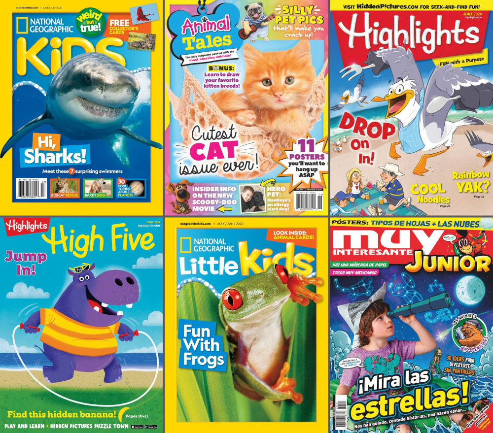 various magazine covers available for kids on RBdigital