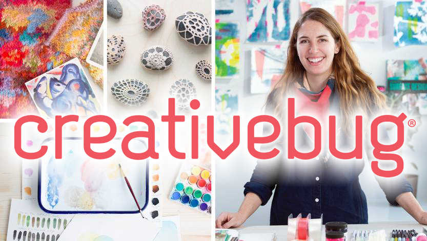 image of smiling woman surrounded by variety of crafts