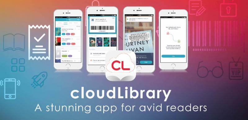 CloudLibrary mobile app is easy to use and free for library card holders.
