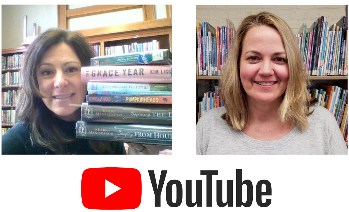 Stacey and Patti with YouTube logo