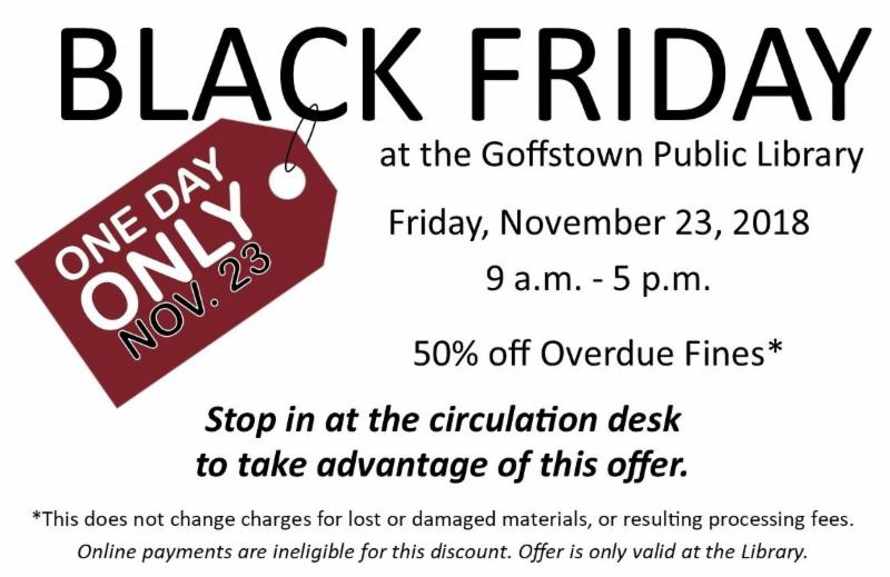 Black Friday special at the Library.
