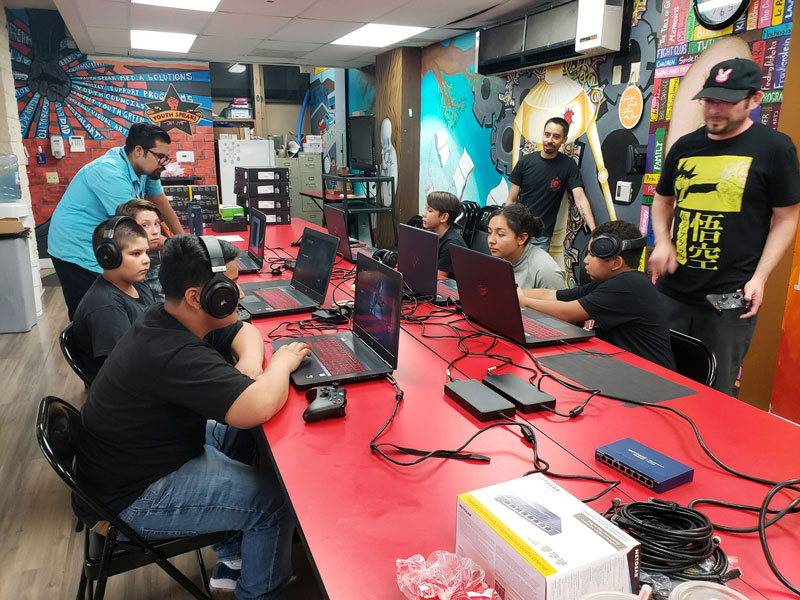 GRYD Gaming Group students