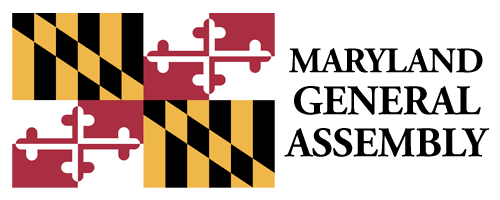 MD Flag with words to the right _Maryland General Assembly_