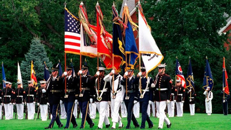 image of military color guard