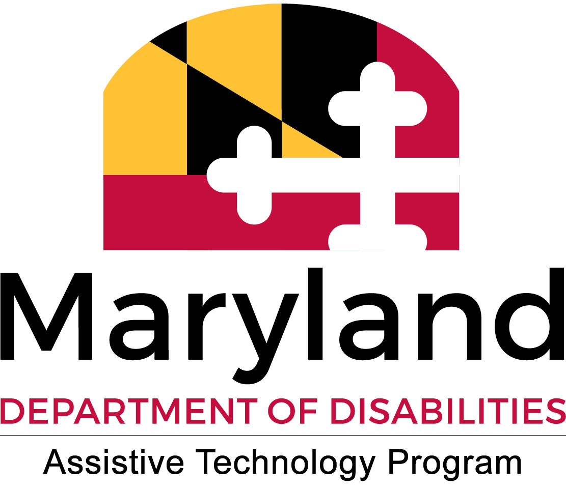 MD Assistive Technology Program logo with MD flag