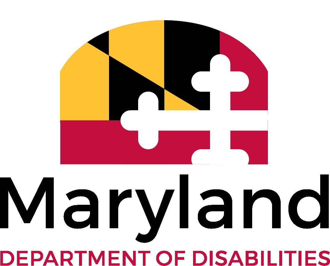 MDOD Logo with MD flag design above