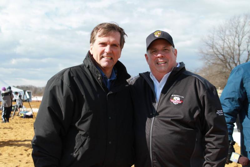Deputy Secretary Frank poses with Governor Hogan